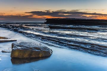 Rock Ledge and Bold Dawn Seascape
