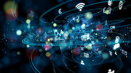 Business and technology concept. IoT(Internet of Things).