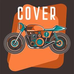 Vintage Custom Motorcycle Poster - Vector