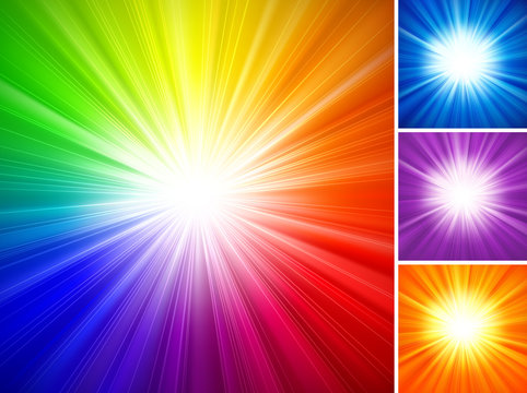 Multicolored Starburst Background