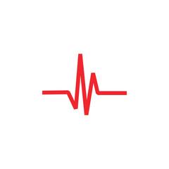 Pulse icon graphic design template vector