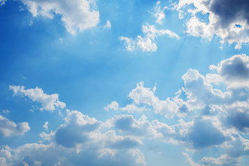 blue sky and sunlight with cloud white
