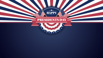 Happy Presiidents Day Banner Background and Greeting Cards. Vector Illustration Fotomurales