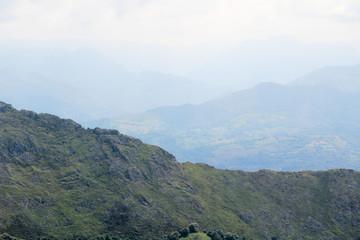 Mountain panorama from Mirador del Fitu, Asturias, Spain