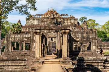 Baphuon temple ruins at Angkor, Siem Reap Province, Cambodia