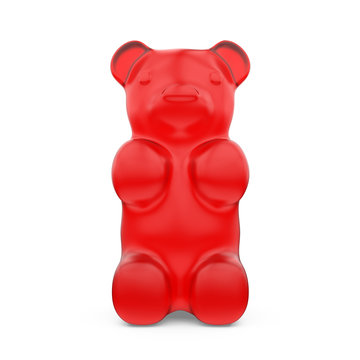 Gummy Bears Candy Isolated