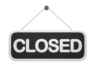 Closed Sign Isolated
