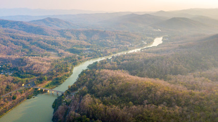 Landscape of nan river from Sirikit Dam,