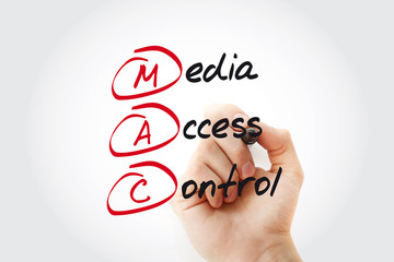 MAC - Media Access Control acronym with marker, technology concept
