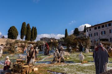 Assisi, Basilica di San Francesco, il presepe
