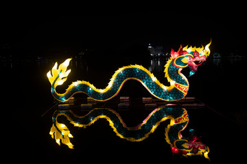 Nakhon sawan festival,lamp,hanging lamp,king lght ,Chinese New Year, Chinese New Year activities, dragon,dragon dance , The Chinese dragon Nakhon Sawan  thailand., Guanyin.