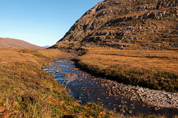 River in Glen Torridon in Scottish Highlands