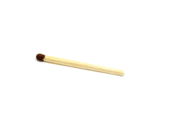 wooden match on white background