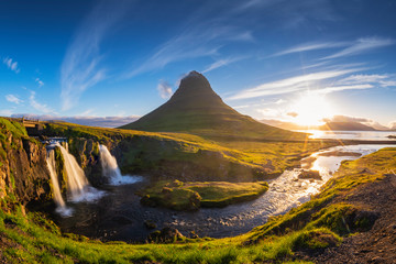 Kirkjufell in the morning, Summer, Iceland