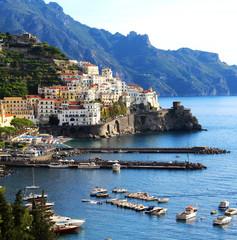 Beautiful view of Amalfi, Italy