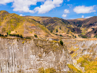 Foto op Canvas Zuid-Amerika land Ecuador, stunning view of Toachi river canyon, on the road between Zumbahua and Quilotoa lagoon