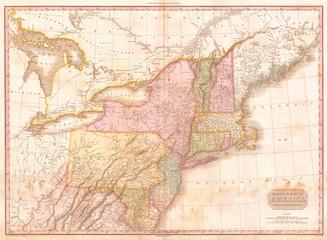 1818, Pinkerton Map of the Northern United States, John Pinkerton, 1758 – 1826, Scottish antiquarian, cartographer, UK