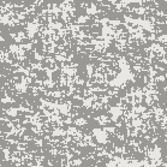 Modern fashion vector trendy camo pattern. Digital camouflage seamless pattern