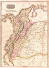 1818, Pinkerton Map of Northwestern South America, Columbia, Venezuela, Ecuador, Panama, John Pinkerton, 1758 – 1826, Scottish antiquarian, cartographer, UK