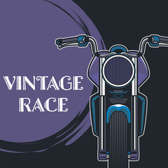 motorcycle cafe race tshirt print illustration - Vector
