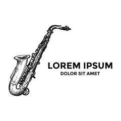 Saxophone Logo Music Jazz Inspiration