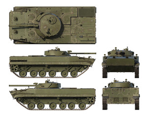 3D renders of Soviet Infantry Combat Vehicle BMP-3