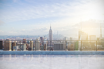 Modern rooftop with NY view