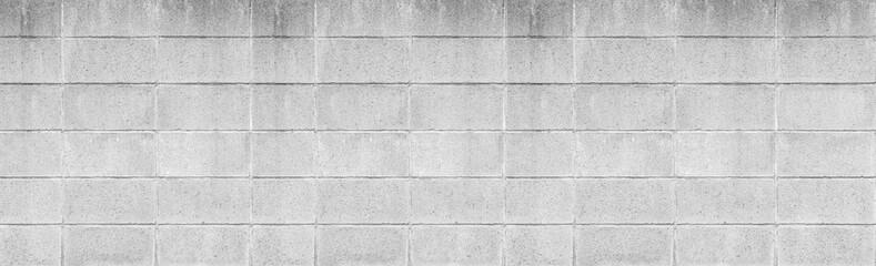 Panorama of Stone block wall background seamless and pattern