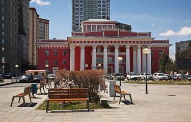 Theater square in Ulaanbaatar. Mongolia