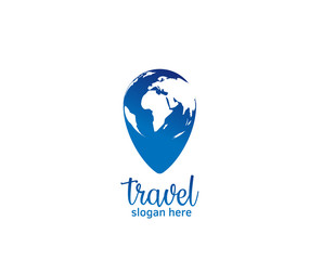 Travel pin pointer logo