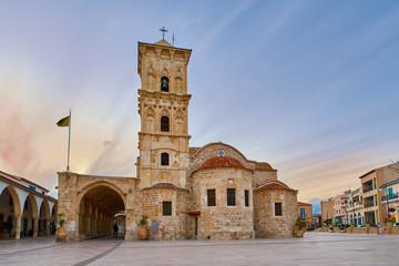 Holy church of Saint Lazarus in Larnaca Cyprus in the evening
