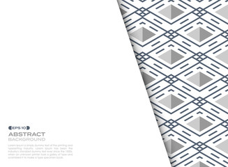 Abstract cover sheet of blue stripe line pattern square geometric background.
