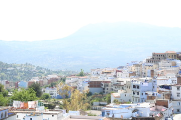 A magnificent view of Chefchaouen town in northern Morocco.