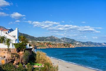 Nerja Town on Costa del Sol in Spain