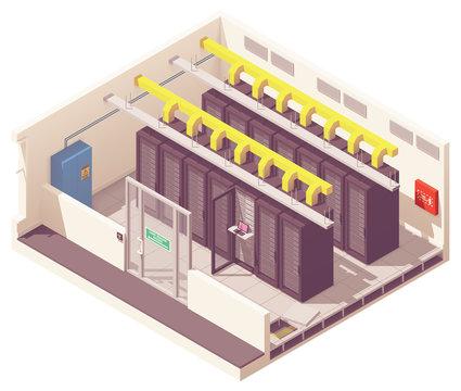 Vector isometric server room
