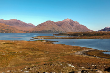 Lake Torridon in Scottish Highlands