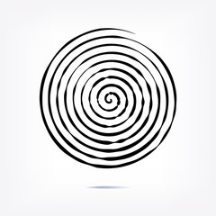 Stripe circle background, abstract pattern. Radial graphic element.