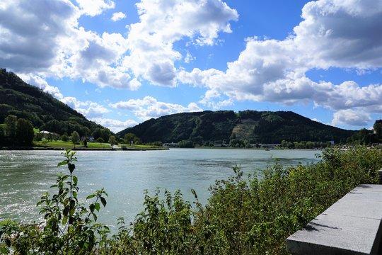 Donau Fluss in grein in österreich
