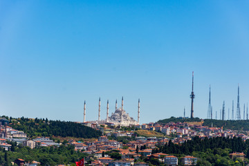 The view to the new and largest mosque in Turkey