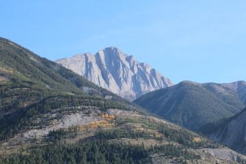 Peak By Highway 16, Jasper National Park, Alberta