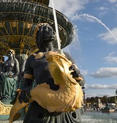 Fontaine de la place de la Concorde à Paris, France