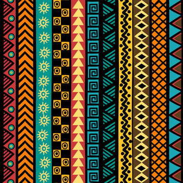 Geometrical ethnic motifs background