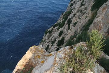 the rocky cliffs of Mallorca