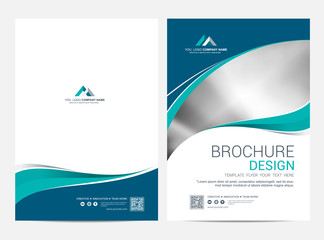 Brochure template flyer design vector background