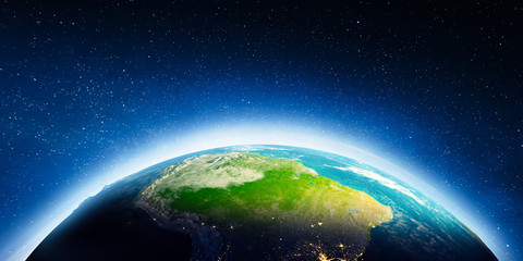Wall Mural - South America from space