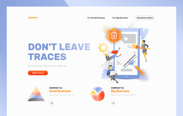Don't Leave Traces Web Page Header