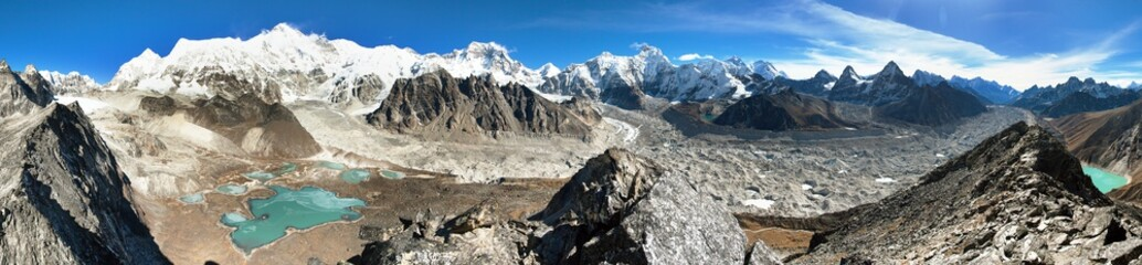 Mount Cho Oyu, Nepal himalayas mountains panorama