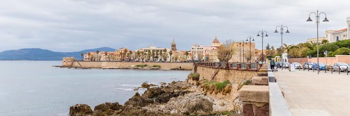 Cityscape of Alghero in Sardinia, Italy
