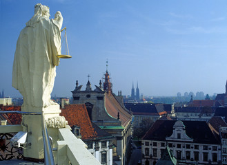 Wroclaw, Poland - September, 2004: view from Wroclaw University's Mathematicians Tower