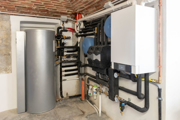 condensing boiler and solar thermal system